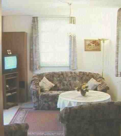 the livingroom with SAT-color-TV and telephon
